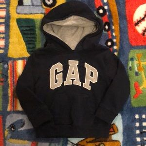 Little Boys Navy Gap hoodie